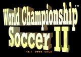 World Championship Soccer II Genesis Title screen