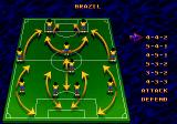 World Championship Soccer II Genesis Formation selection