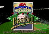 MLBPA Baseball Genesis Title screen