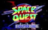 Space Quest I: Roger Wilco in the Sarien Encounter DOS Title screen (EGA/Tandy)