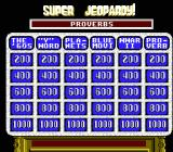 Super Jeopardy! NES The game board
