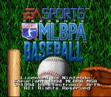 MLBPA Baseball SNES Title screen (USA release)