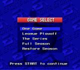 MLBPA Baseball SNES Do you want to play 1 game or a season or what?