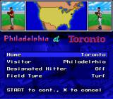 MLBPA Baseball SNES Who is the home and visitor teams?