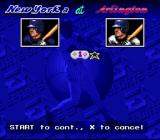MLBPA Baseball SNES It is the New York Yankees at the Texas Rangers.