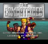 The Combatribes SNES Title screen.