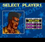 The Combatribes SNES Bullova (featured here) is the strongest character, but also the slowest.
