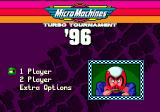 Micro Machines: Turbo Tournament 96 Genesis Main Menu