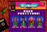 Micro Machines: Turbo Tournament 96 Genesis Race summary