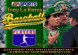 Tony La Russa Baseball Genesis Title screen