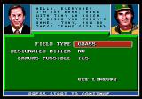 Tony La Russa Baseball Genesis Game start
