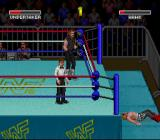 WWF Super WrestleMania SNES I threw him out of the ring.