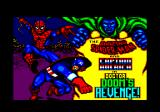 The Amazing Spider-Man and Captain America in Dr. Doom's Revenge! Amstrad CPC Title screen