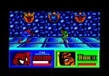 The Amazing Spider-Man and Captain America in Dr. Doom's Revenge! Amstrad CPC Spidey fighting Machete.