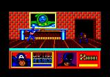 The Amazing Spider-Man and Captain America in Dr. Doom's Revenge! Amstrad CPC Cap threw his shield.
