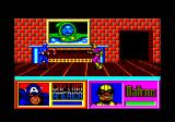 The Amazing Spider-Man and Captain America in Dr. Doom's Revenge! Amstrad CPC Cap and Batroc fight.