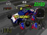 Daytona USA Deluxe Windows Your 3D pit crew swaps tires.