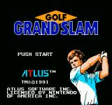 Golf Grand Slam NES Title Screen