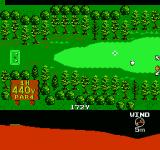 Golf Grand Slam NES Lining up a shot