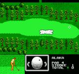 Golf Grand Slam NES The little dot represents where the club will make contact with the golf ball
