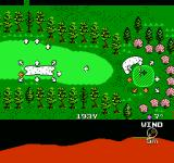 Golf Grand Slam NES The golf ball by a sandtrap
