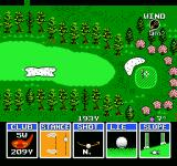 Golf Grand Slam NES When aiming at the green some of the options change