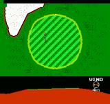 Golf Grand Slam NES The golfball just on the rim of the green