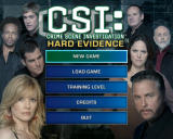 CSI: Crime Scene Investigation - Hard Evidence Windows Main Menu
