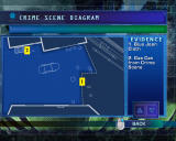 CSI: Crime Scene Investigation - Hard Evidence Windows Crime Scene Diagram screen