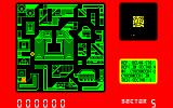 Blade Runner Amstrad CPC Top-down view of the city