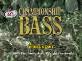 Championship Bass PlayStation Title screen
