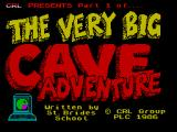 The Very Big Cave Adventure ZX Spectrum Loading screen