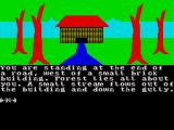 The Very Big Cave Adventure ZX Spectrum You start the game outside this house