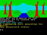 The Very Big Cave Adventure ZX Spectrum The bull charges at you when you get to the ravine