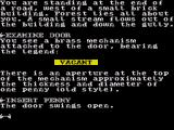 The Very Big Cave Adventure ZX Spectrum Using the penny on the slot opens the door to the building