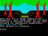 The Very Big Cave Adventure ZX Spectrum The grate is the entrance to the very big cave but it is locked