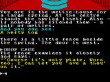 The Very Big Cave Adventure ZX Spectrum A fence appears in the building when you return