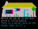 Granny's Garden ZX Spectrum The woodcutters house where you need to find the secret word