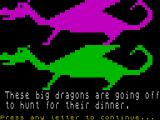 Granny's Garden ZX Spectrum The big dragons have gone off to dinner