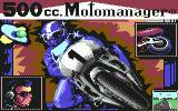 500cc Motomanager Commodore 64 Title Screen