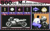500cc Motomanager Commodore 64 Adjusting the bike before the qualification...