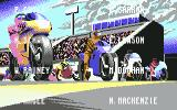 500cc Motomanager Commodore 64 Start of the race and Positions of the racers