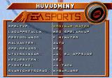 Elitserien 96 Genesis Main menu