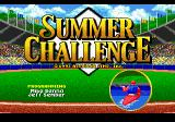 The Games: Summer Challenge Genesis Title screen