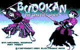 Budokan: The Martial Spirit DOS Title Screen (CGA)