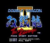 Double Dragon II: The Revenge Genesis Title screen
