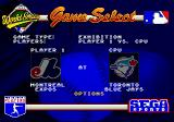 World Series Baseball Genesis Game Select