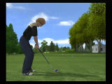 Tiger Woods PGA Tour 08 Wii Preparing to swing.