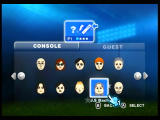 FIFA Soccer 08 Wii Pick your Mii.