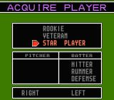 Baseball Stars 2 NES You can hire rookie, veteran or star players